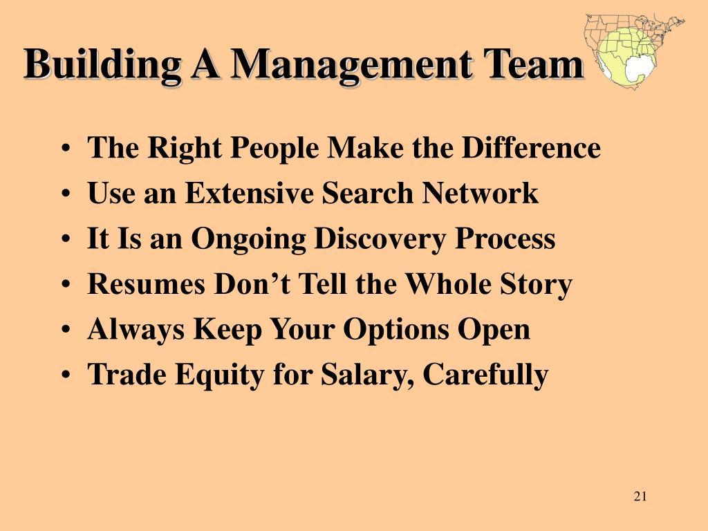 Building A Management Team