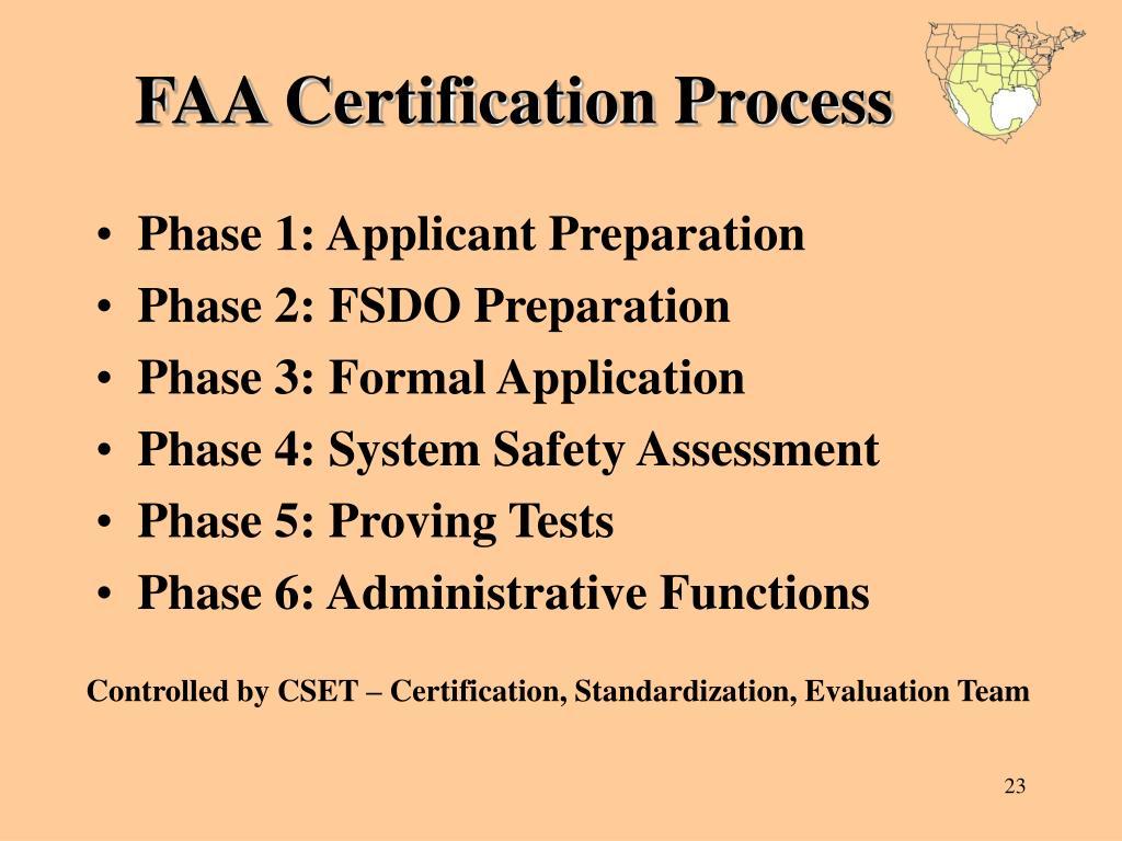 FAA Certification Process