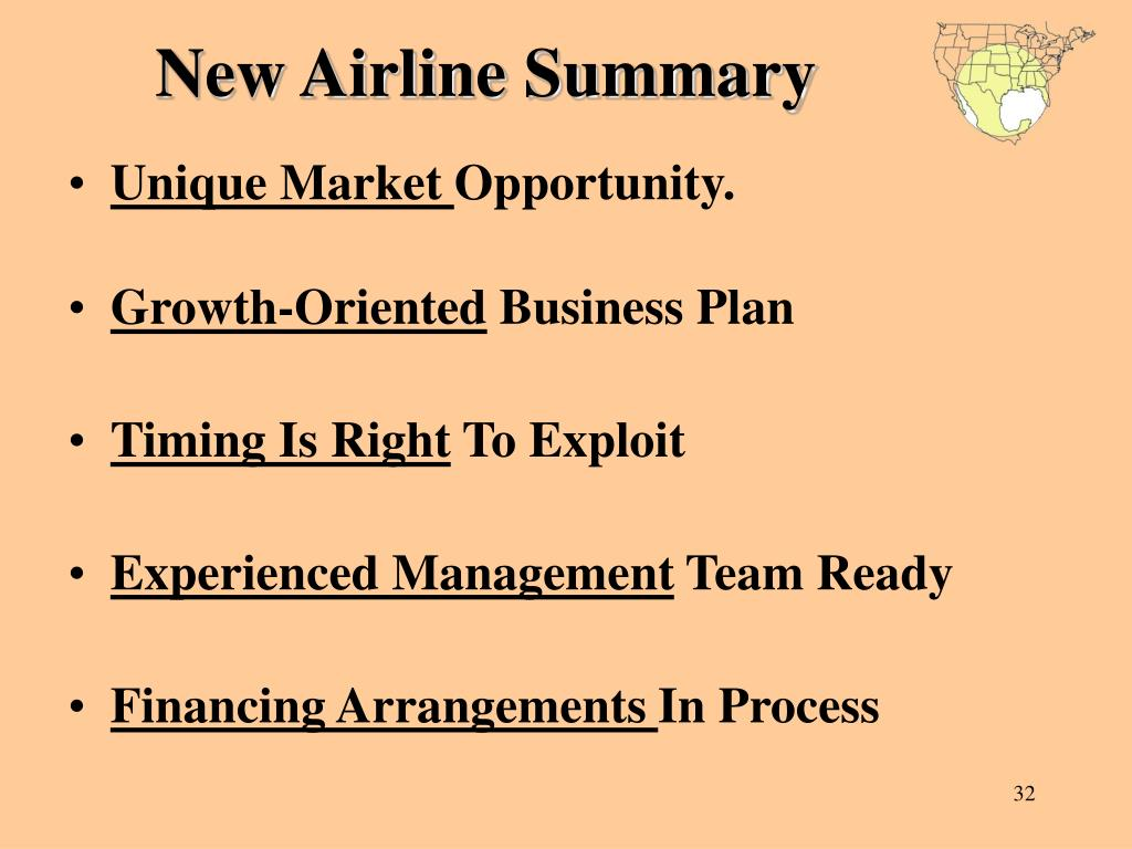 New Airline Summary