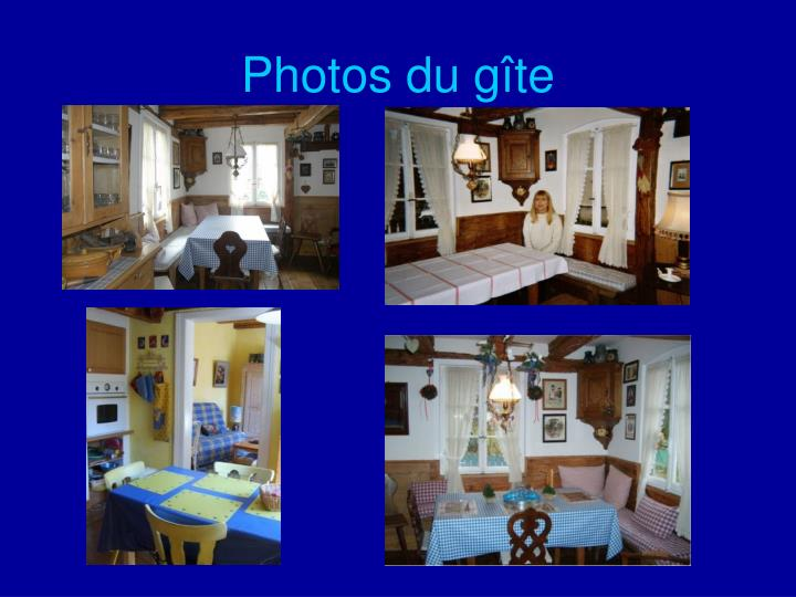 Photos du gîte