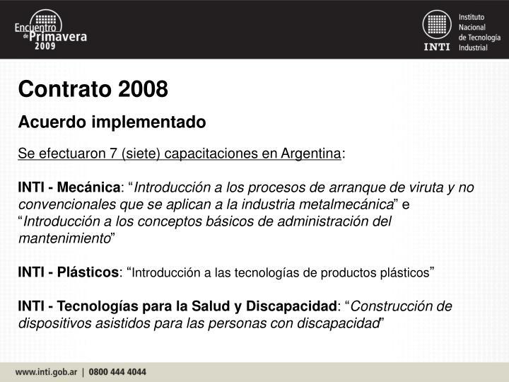 Contrato 2008