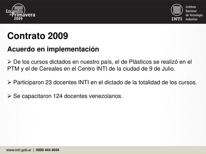 Contrato 2009