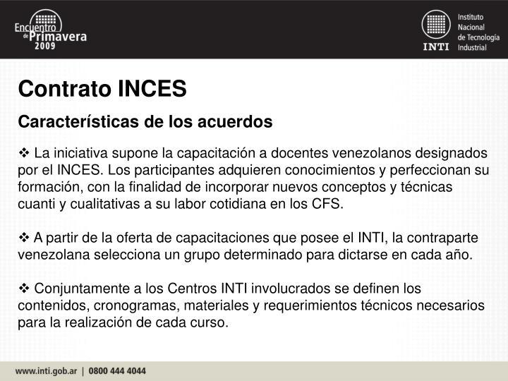 Contrato INCES