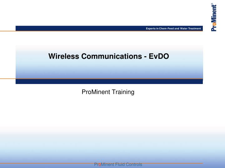wireless communications evdo