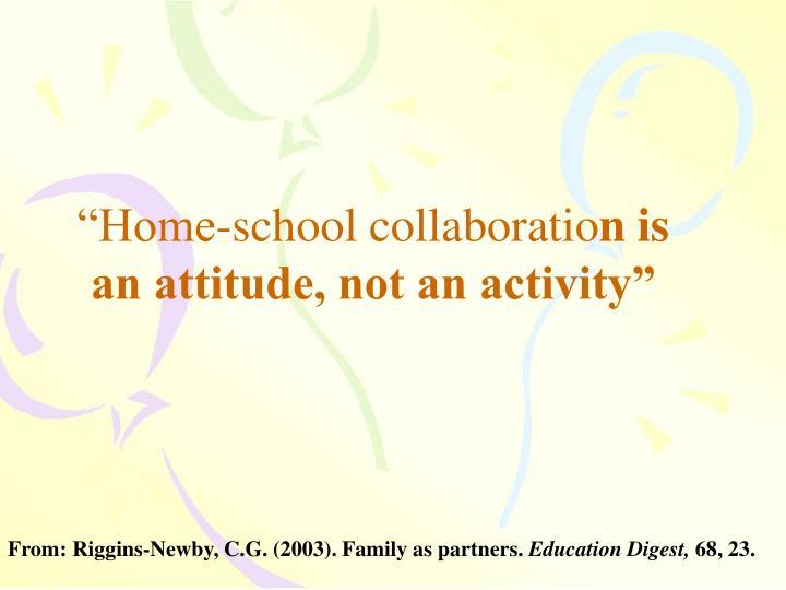 """Home-school collaboratio"