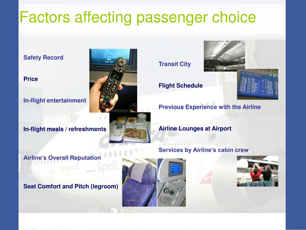 Factors affecting passenger choice