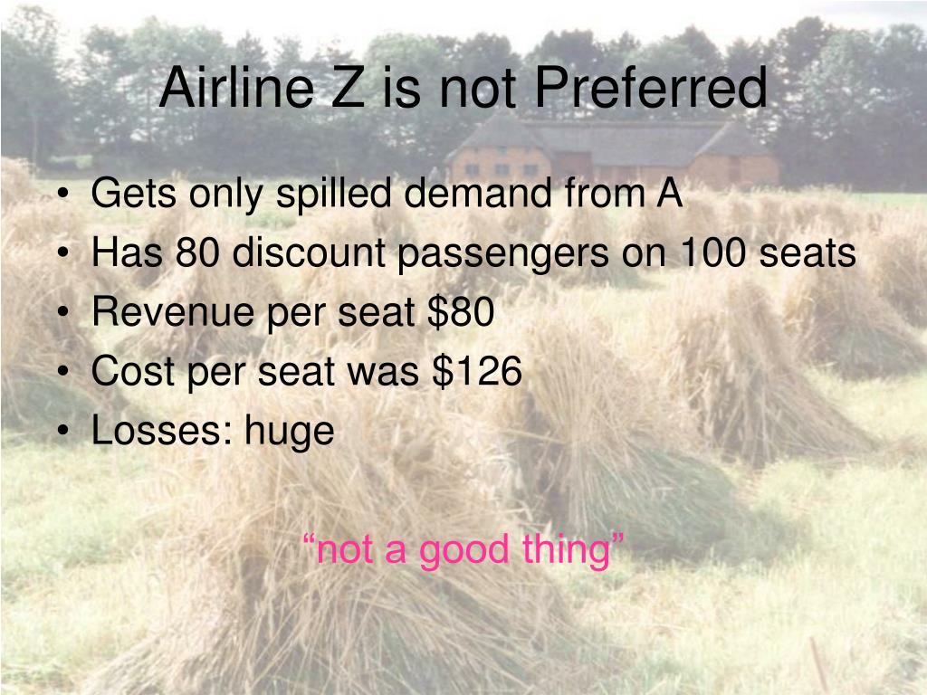 Airline Z is not Preferred