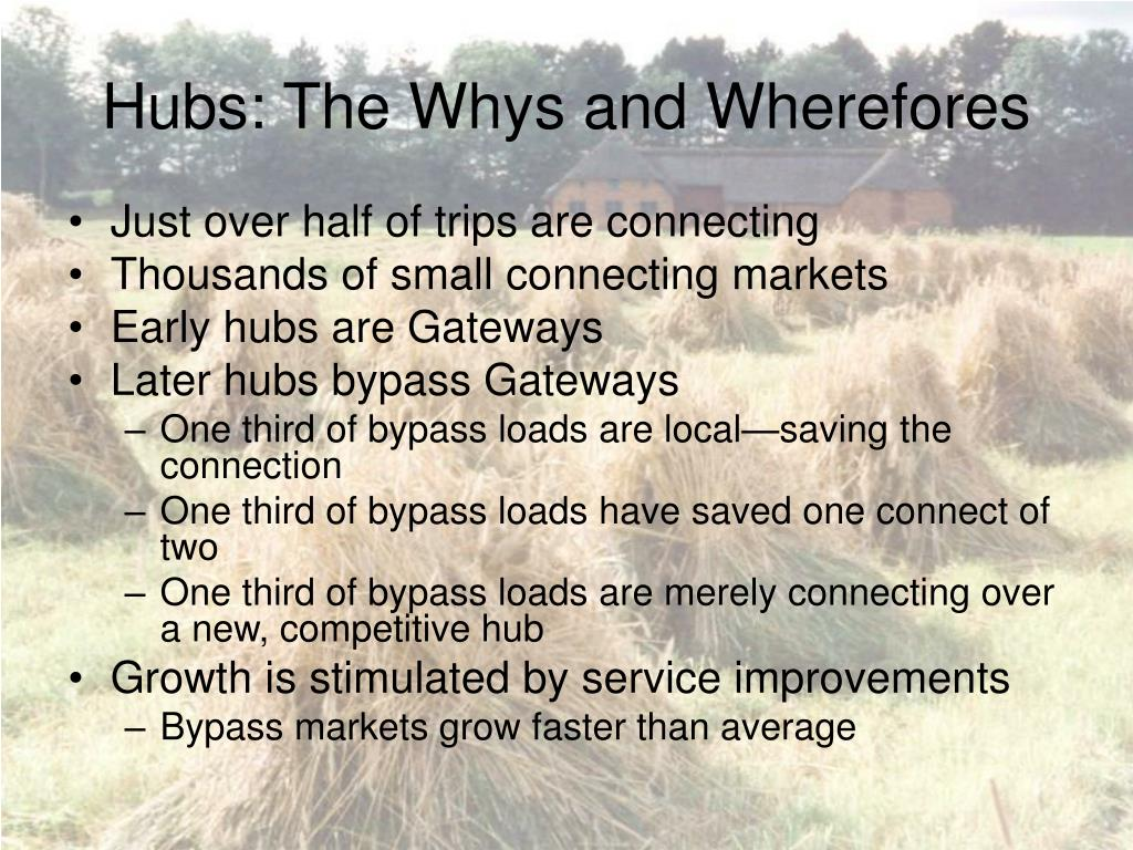 Hubs: The Whys and Wherefores