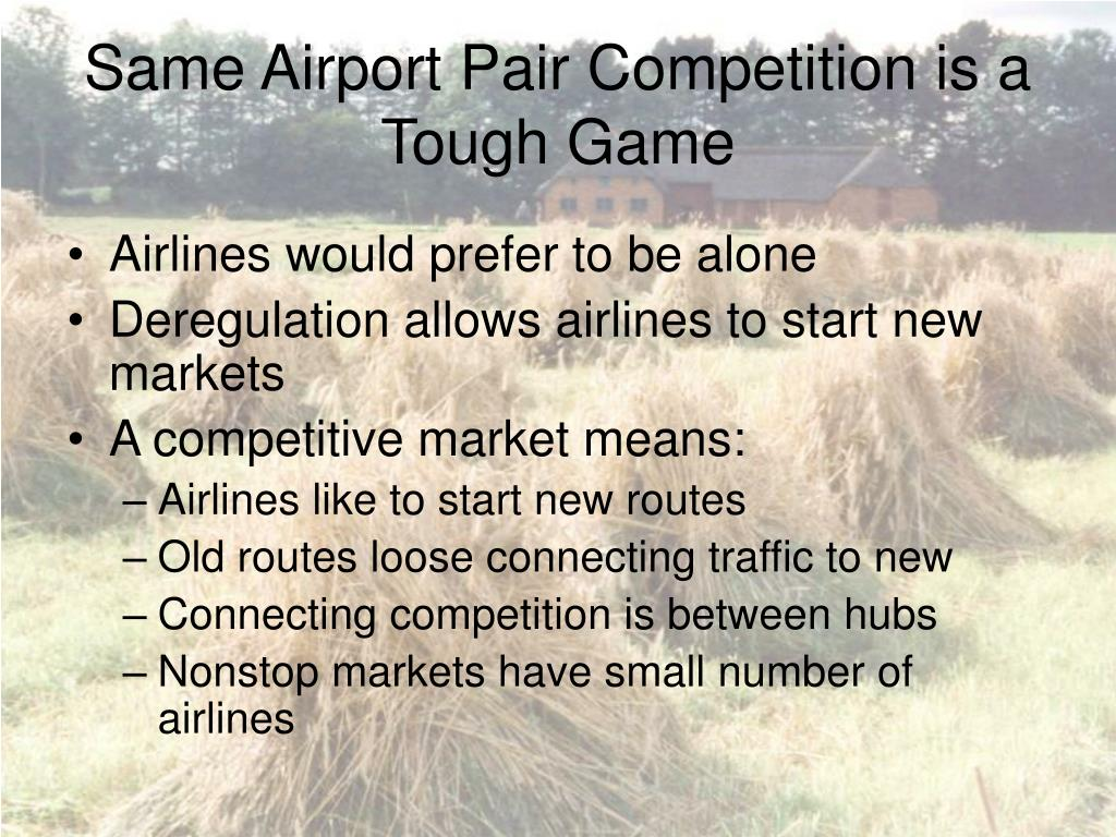 Same Airport Pair Competition is a Tough Game