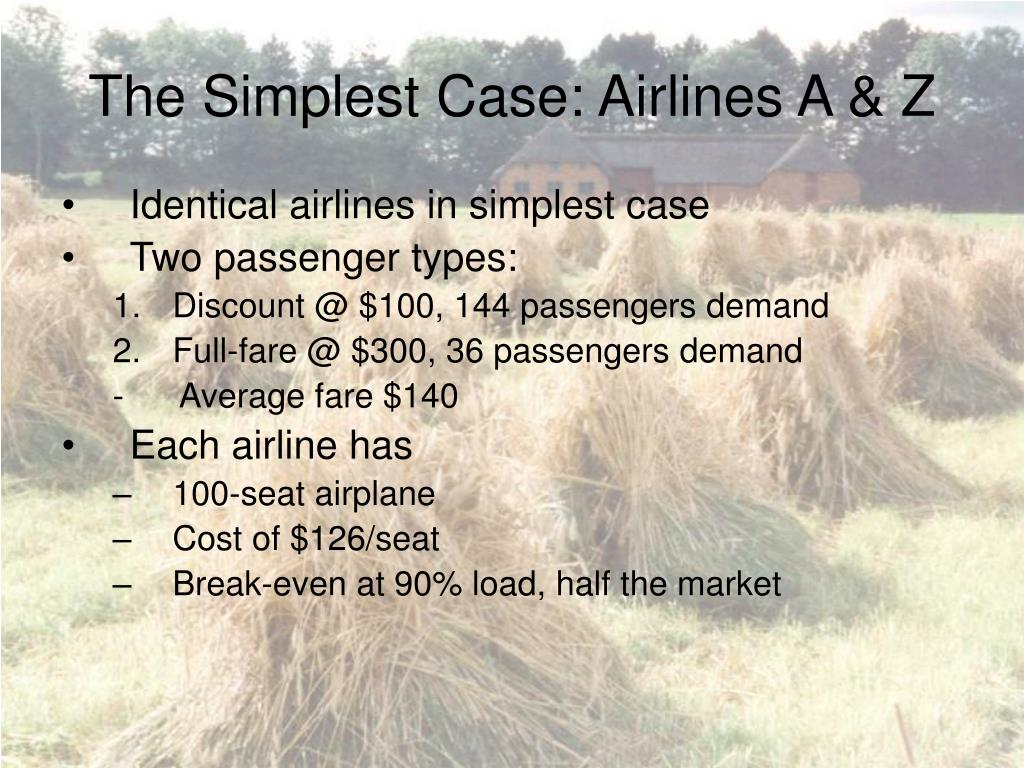 The Simplest Case: Airlines A & Z