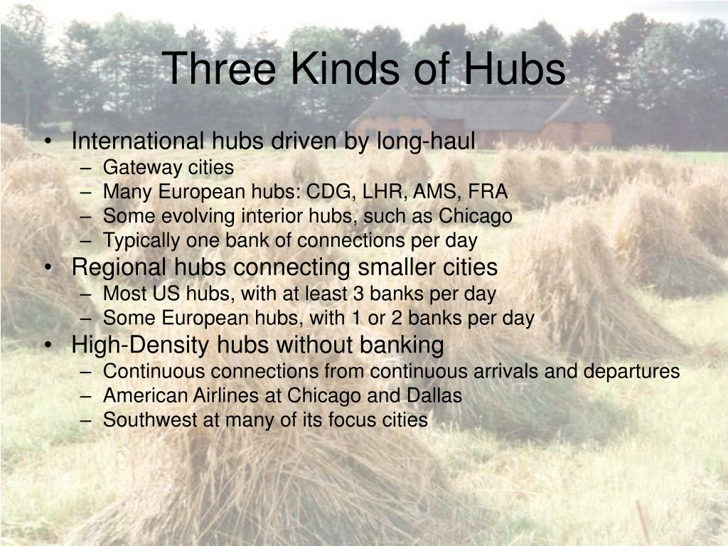 Three Kinds of Hubs