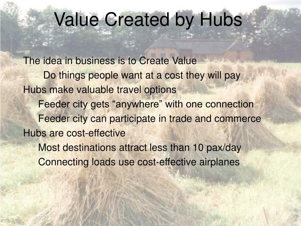 Value Created by Hubs