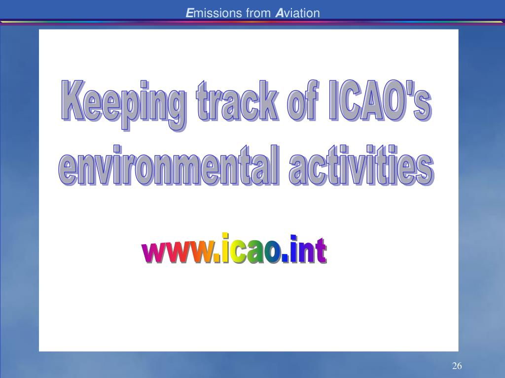 Keeping track of ICAO's
