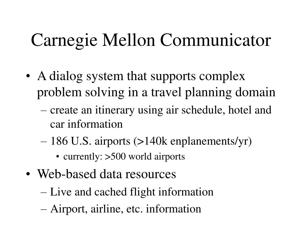 Carnegie Mellon Communicator