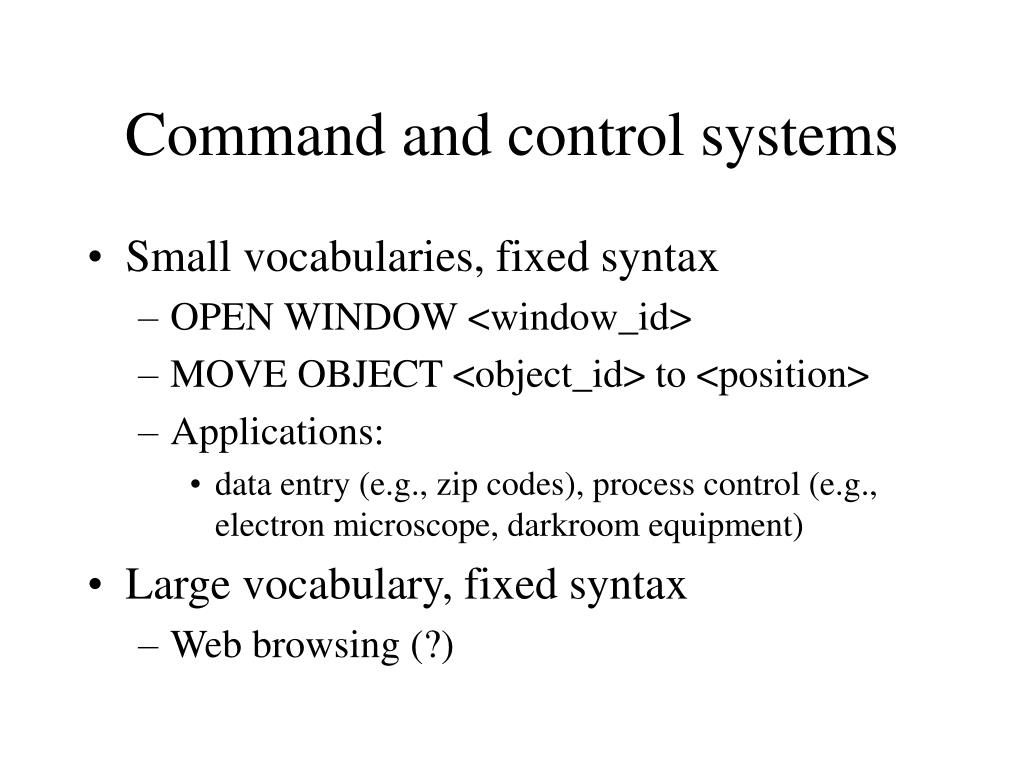 Command and control systems
