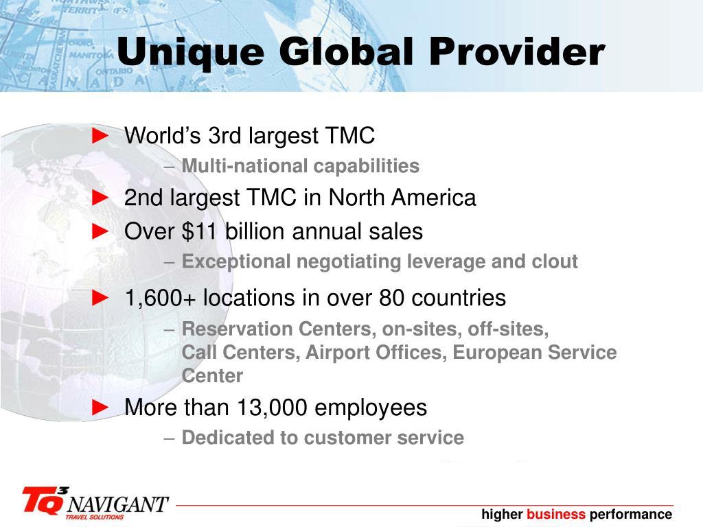 Unique Global Provider
