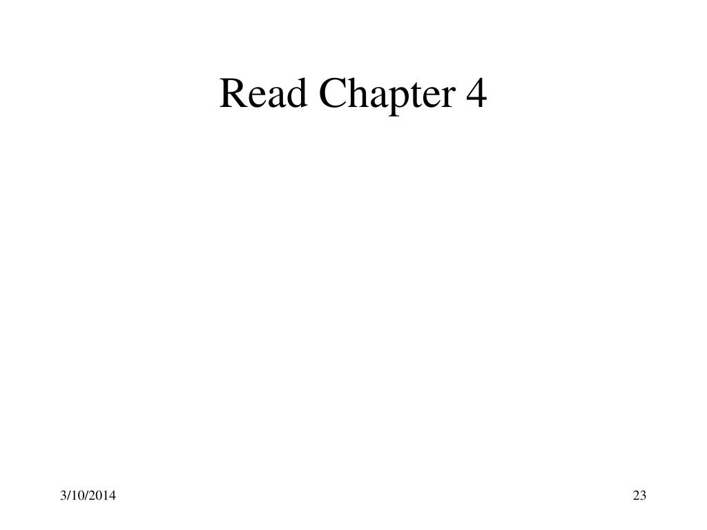 Read Chapter 4