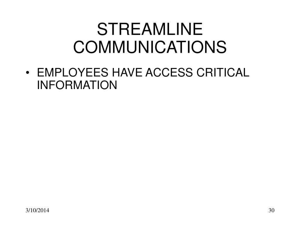 STREAMLINE COMMUNICATIONS