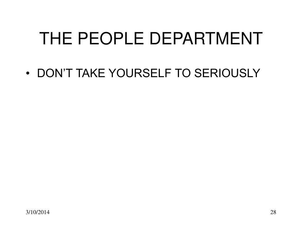 THE PEOPLE DEPARTMENT