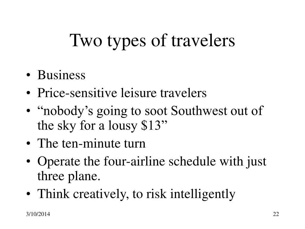 Two types of travelers