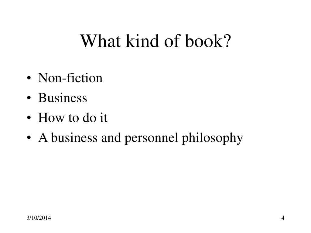 What kind of book?