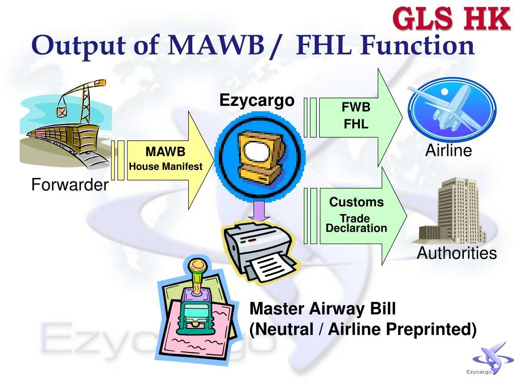 Output of MAWB /  FHL Function