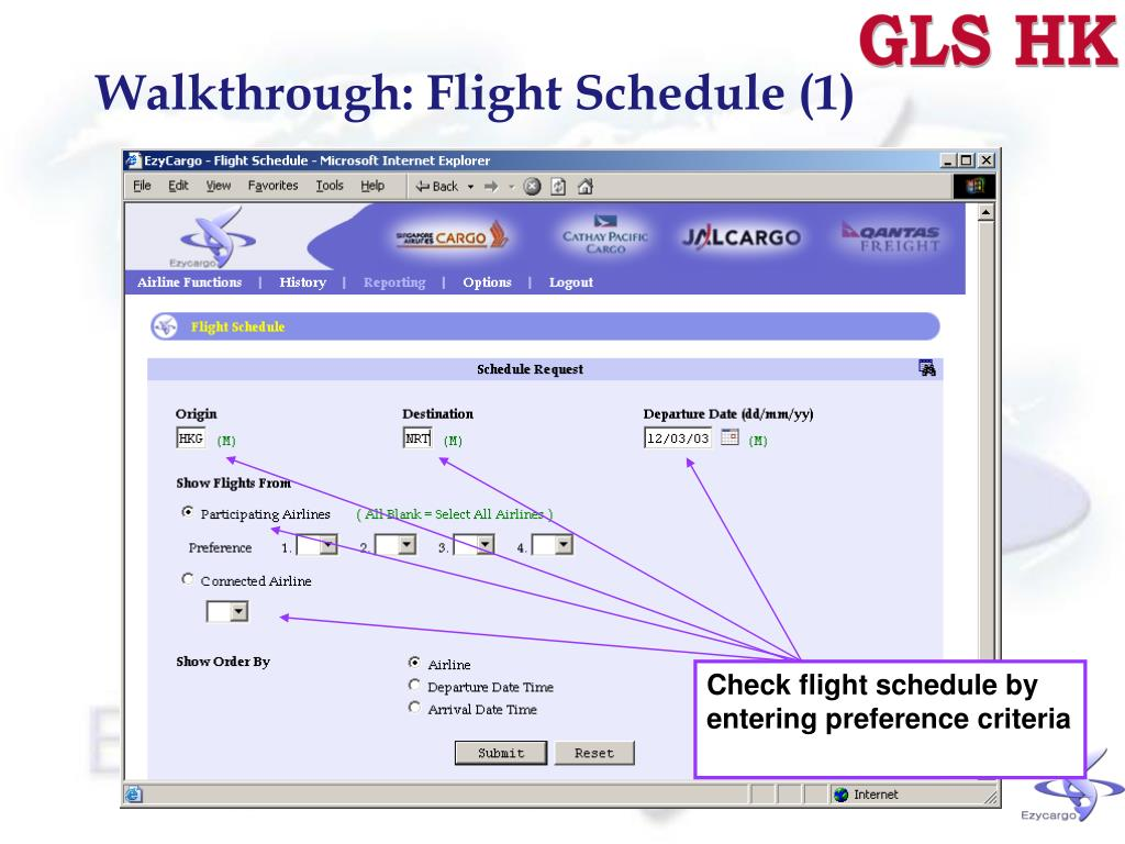 Walkthrough: Flight Schedule (1)