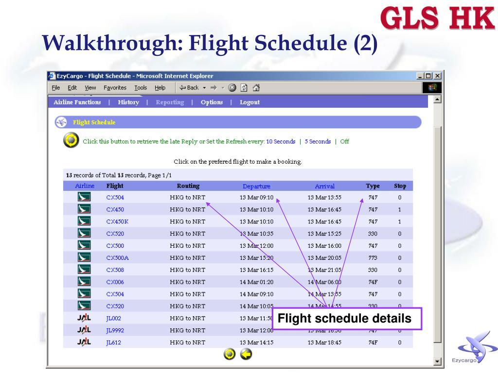 Walkthrough: Flight Schedule (2)