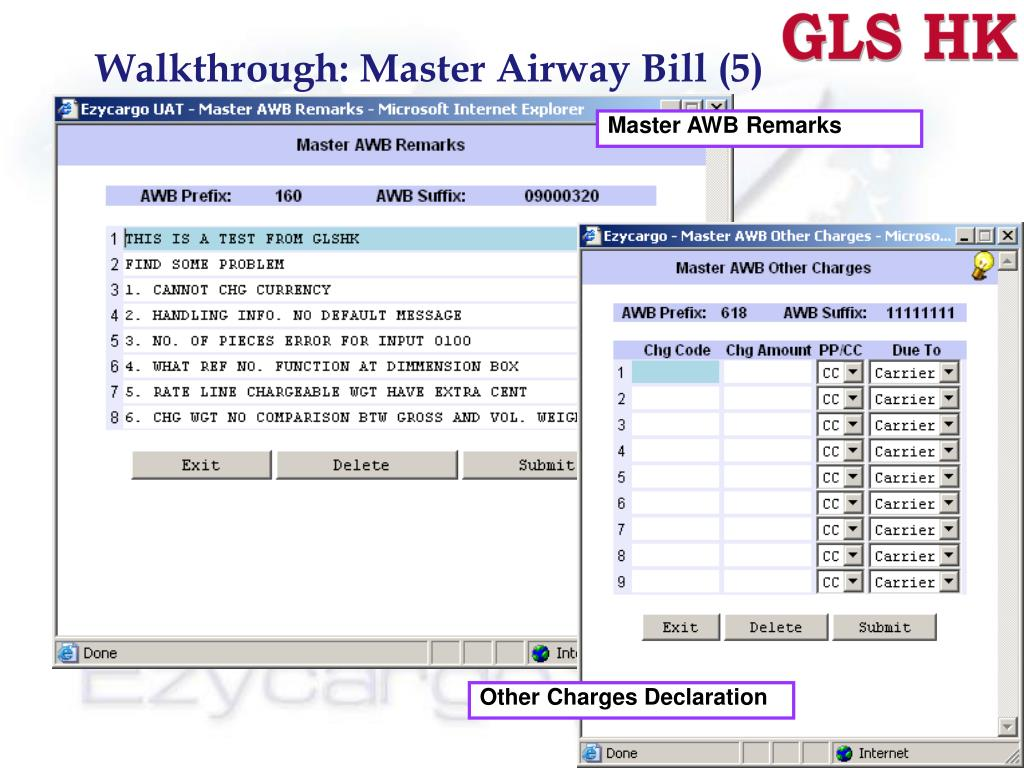 Walkthrough: Master Airway Bill (5)