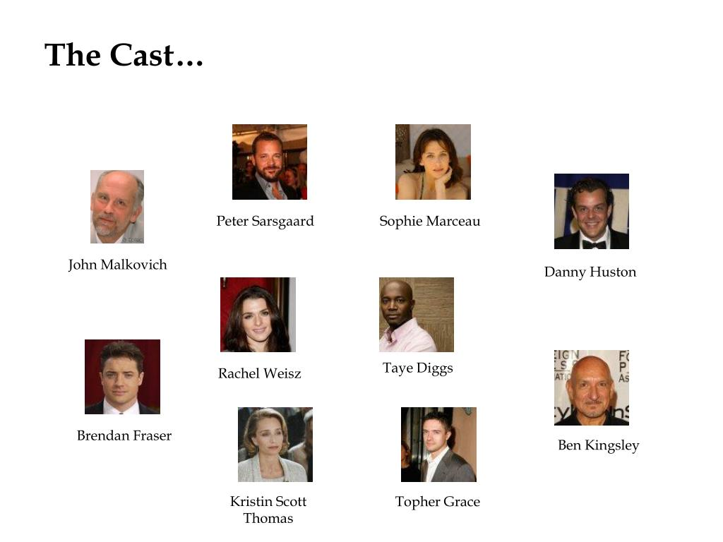 The Cast…