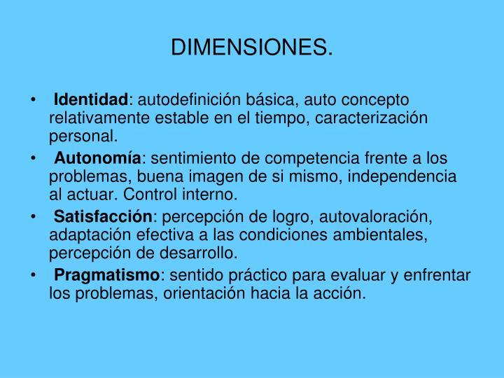 DIMENSIONES.