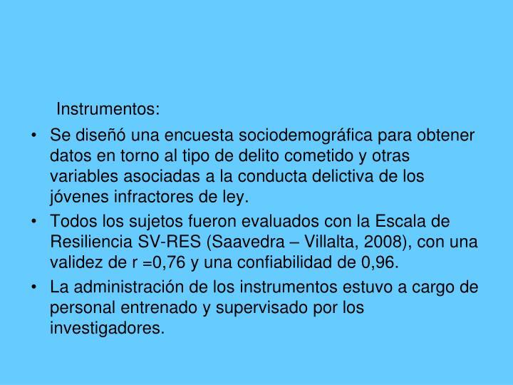 Instrumentos: