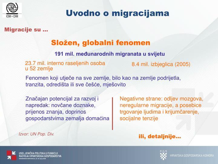 Migracije su …