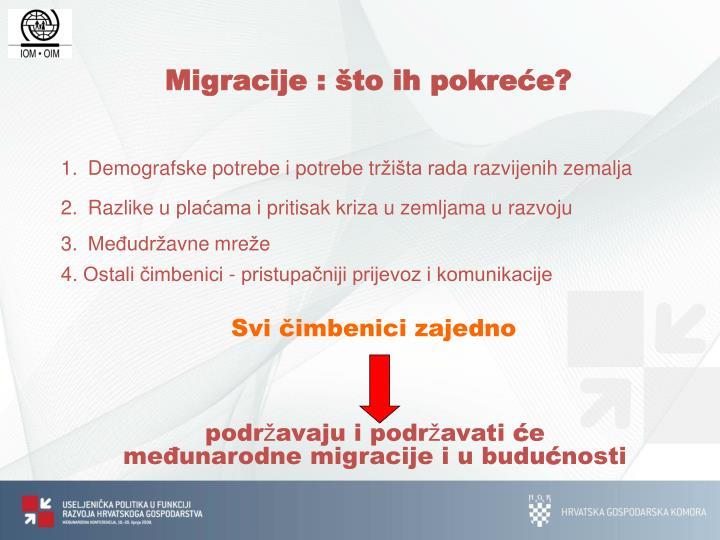 Migracije : što ih pokreće?