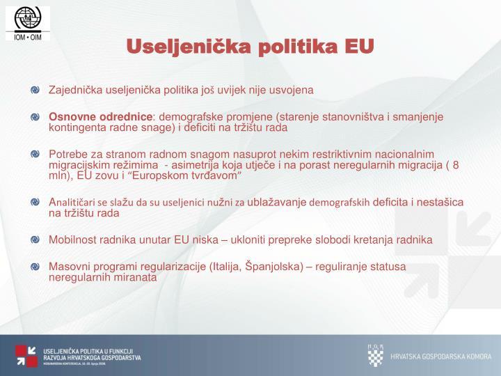 Useljenička politika EU