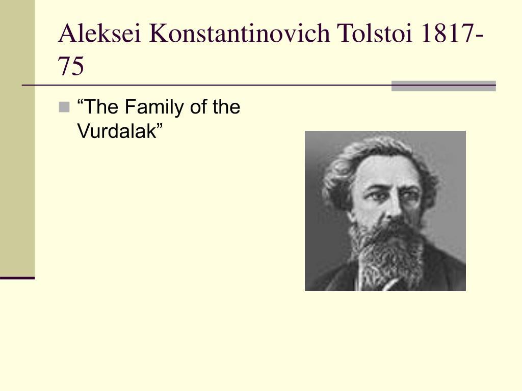 """The Family of the Vurdalak"""