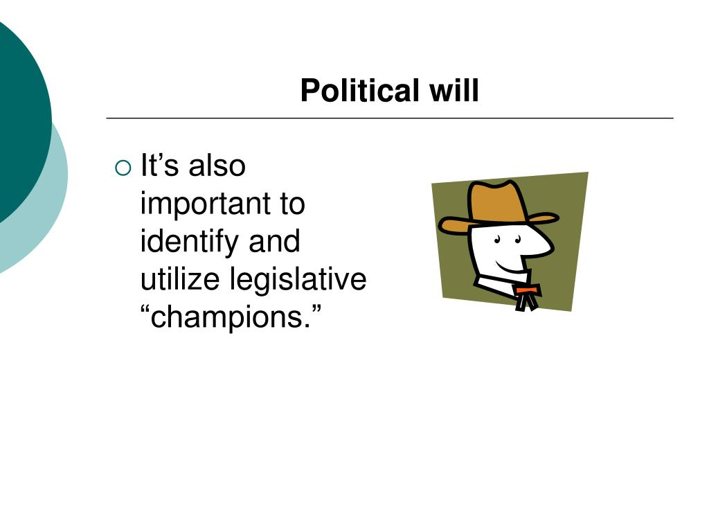 Political will