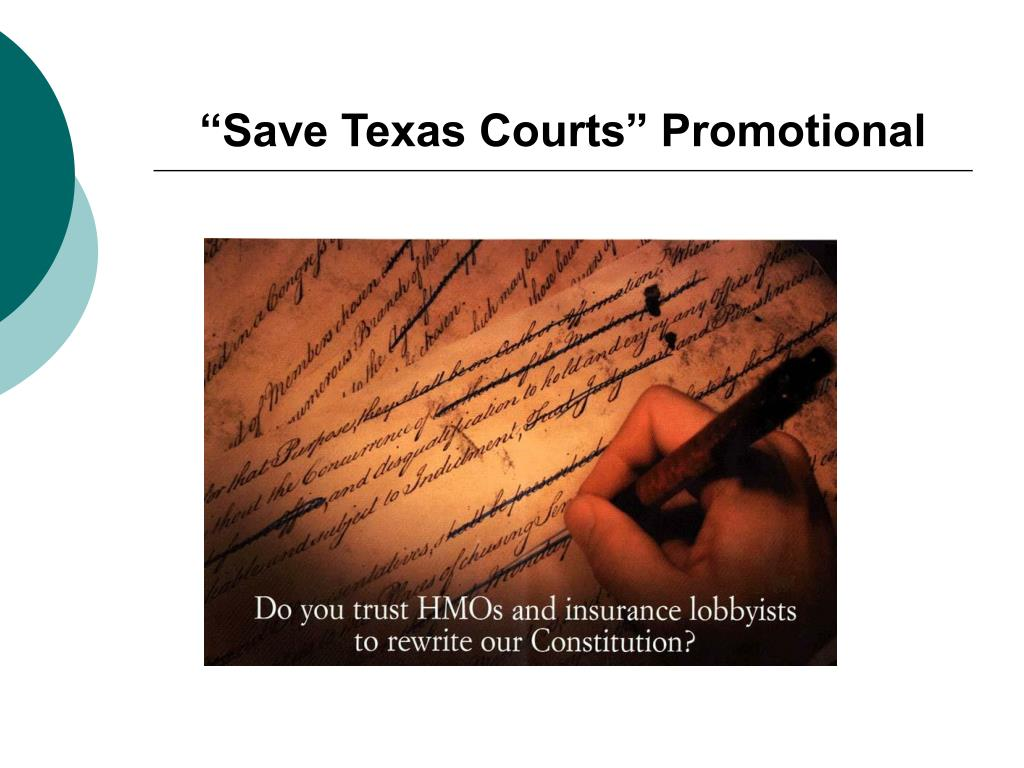 """Save Texas Courts"" Promotional"