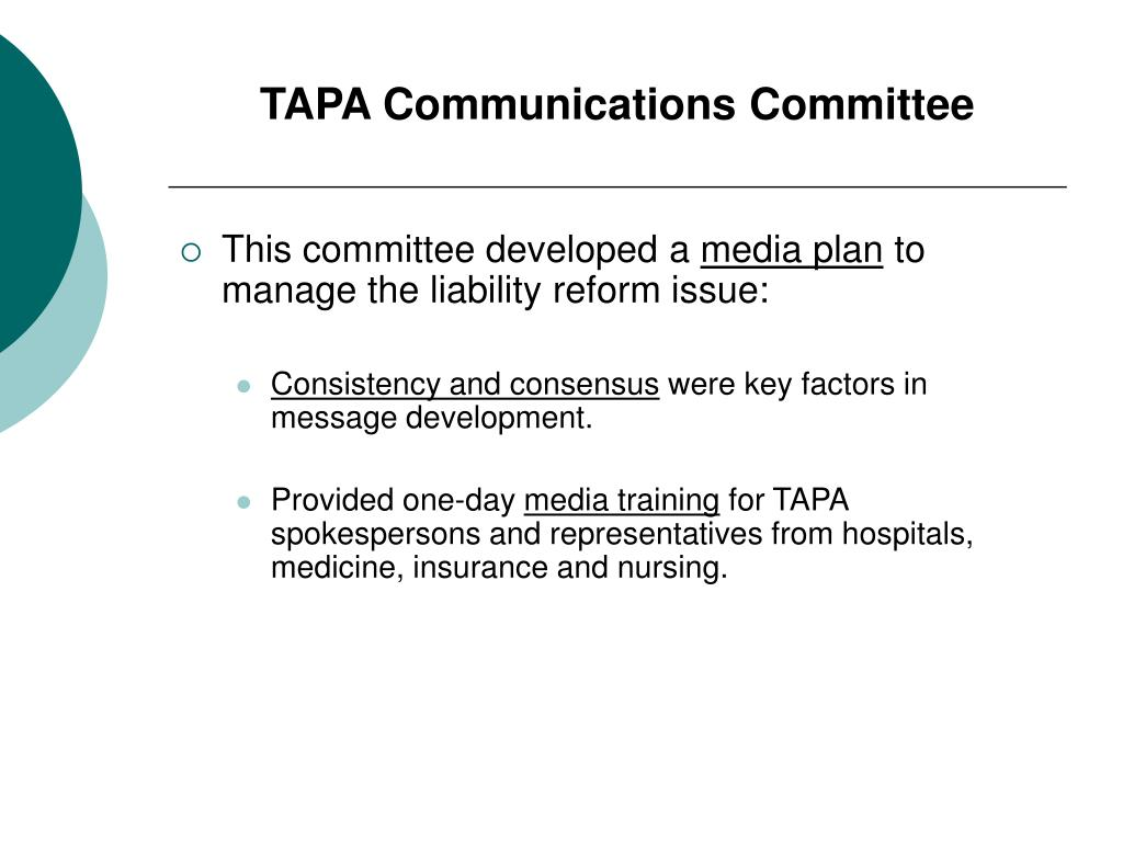 TAPA Communications Committee