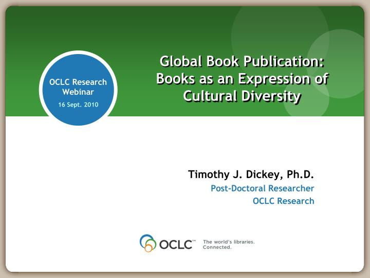 Global book publication books as an expression of cultural diversity