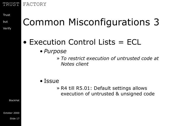 Common Misconfigurations 3