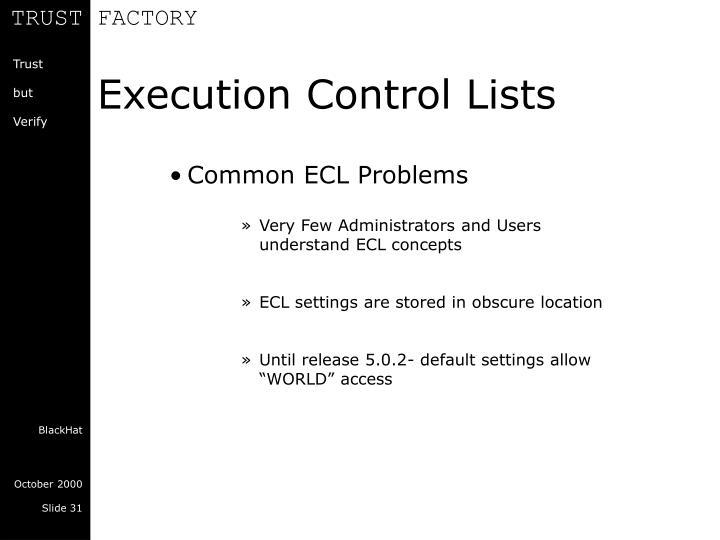 Execution Control Lists