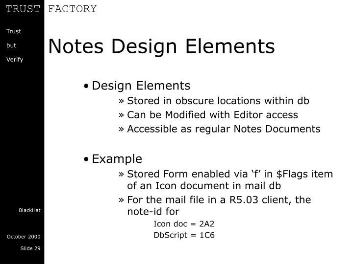 Notes Design Elements