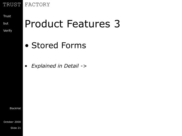 Product Features 3