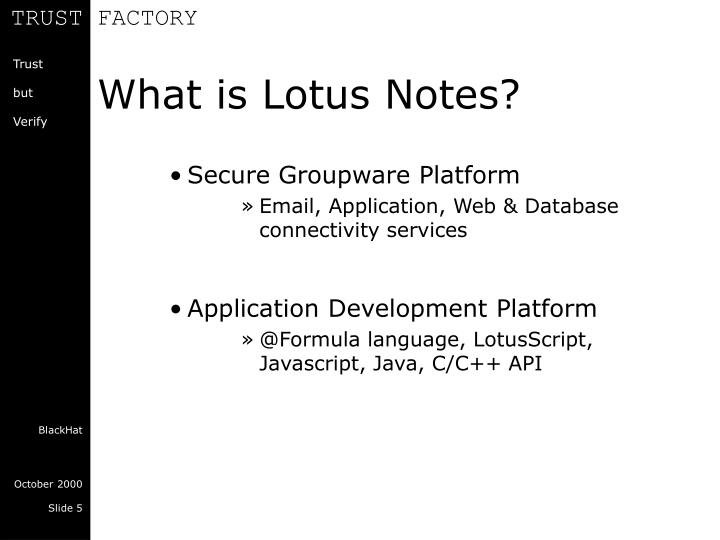 What is Lotus Notes?