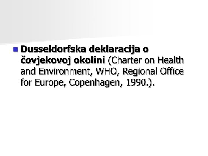 Dusseldorfska deklaracija o ovjekovoj okolini