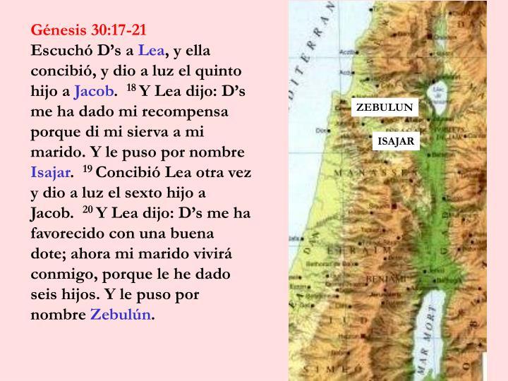 Génesis 30:17-21