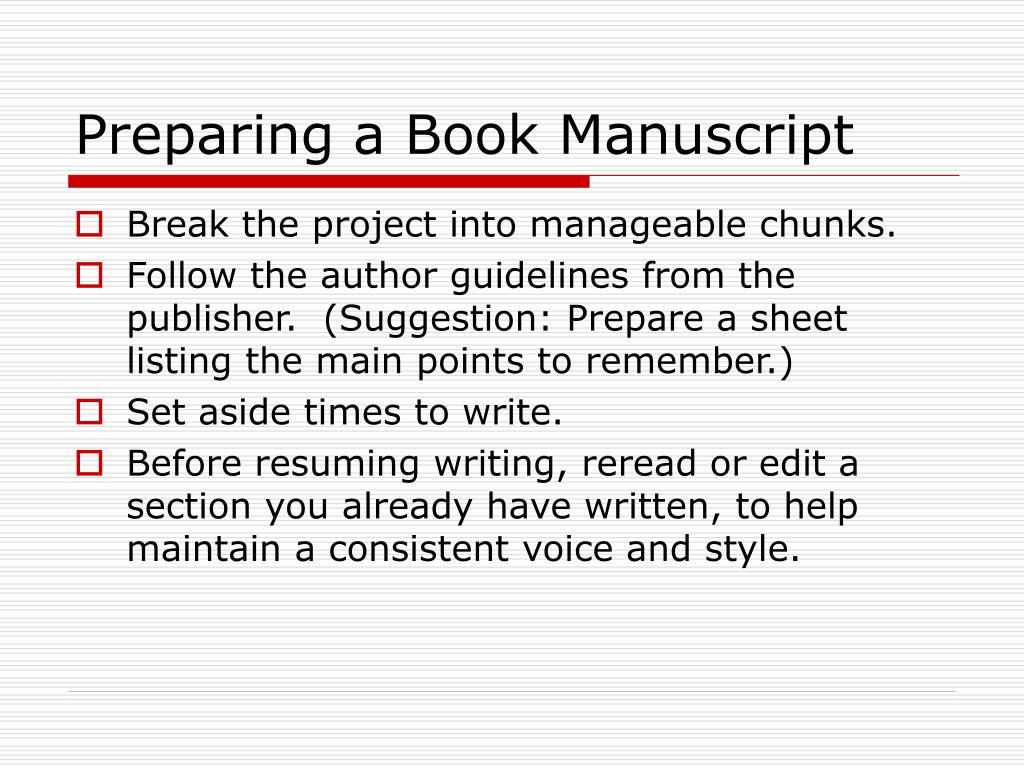 Preparing a Book Manuscript