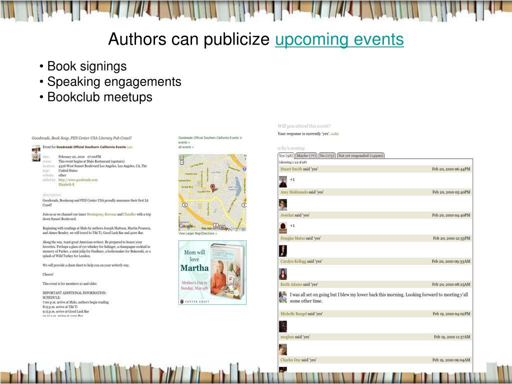 Authors can publicize