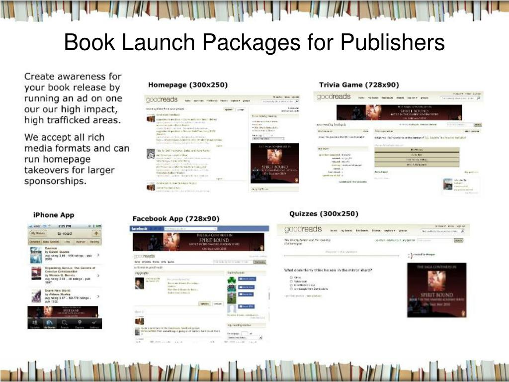Book Launch Packages for Publishers